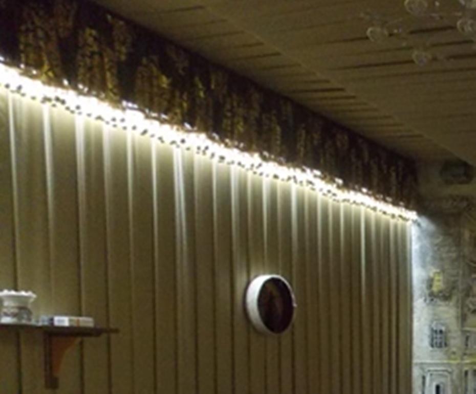 Оформление праздничного зала тканью